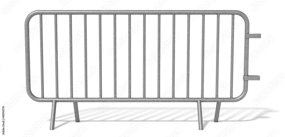 Fototapeta Barrière de sécurité sur fond blanc 2