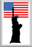 Fototapeta Nowy Jork - znaczek pocztowy z usa
