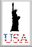 Fototapeta Nowy Jork - znaczek pocztowy z usa 2