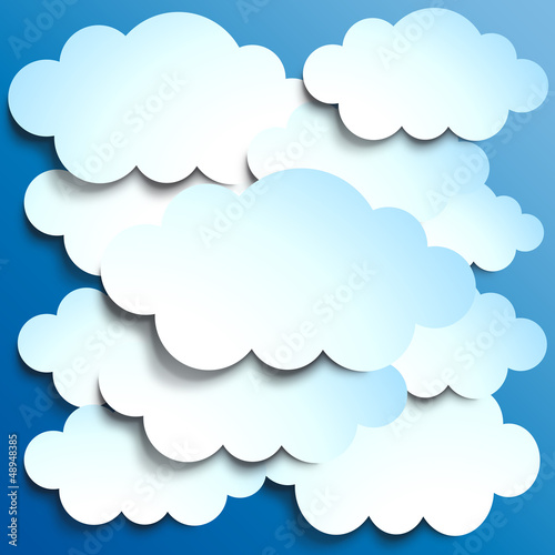 Poster Ciel Vector Clouds background