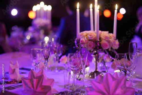 Fotografia Table set for an event party