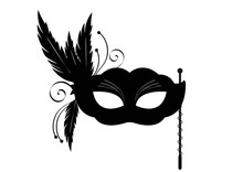 Sticker Masque Venise Noir - C...