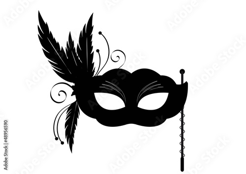 Valokuva  Sticker masque venise noir - Carnaval
