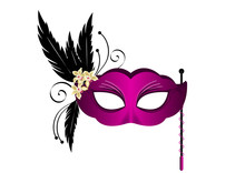 Masque Venise Violet - Carnaval