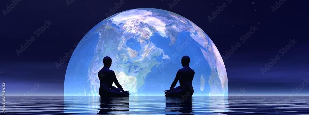 Fototapety, obrazy: Meditation for earth - 3D render