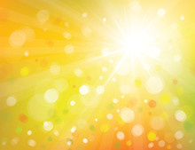 Vector Of Sky Background With Sunshine.