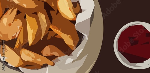 Photo sur Toile Art Studio Chips and Sauce