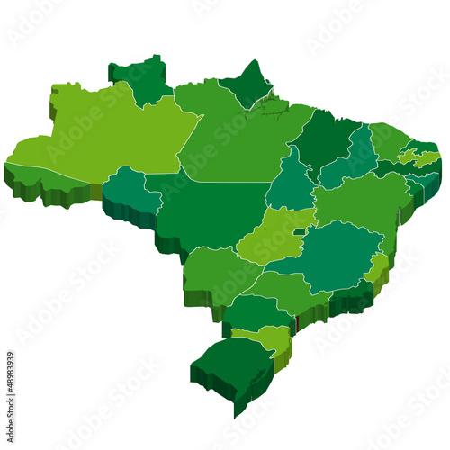 Photographie  Brésil Carte 3D