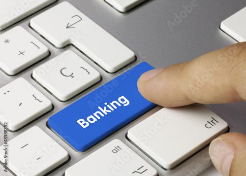 Fotografía  Banking tastatur. Finger