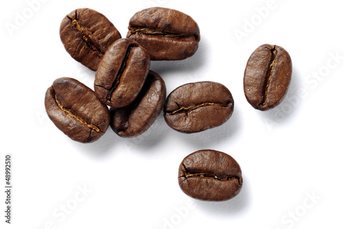 Poster Café en grains coffee beans isolated