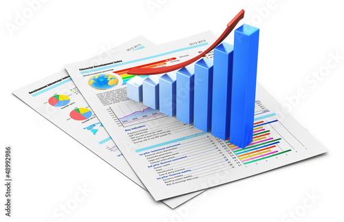 Fotografía  Business financial success concept