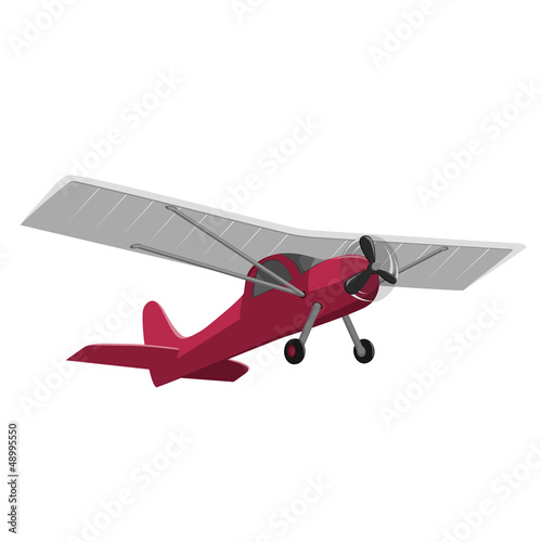 Papiers peints Avion, ballon red airplane isolated on white background