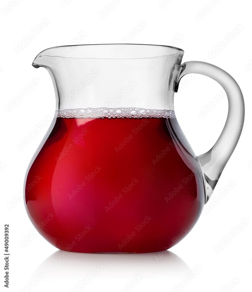 Fototapety, obrazy: Pomegranate juice in a jug