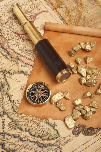 Gold nuggets Wallpaper Mural