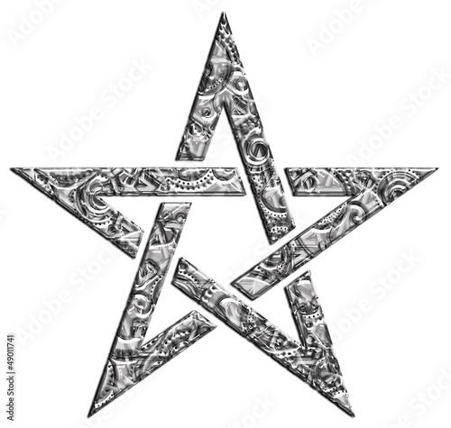 Akustikstoff - Pentagramm - Muster - Stern der Magier (von Anne Mathiasz)