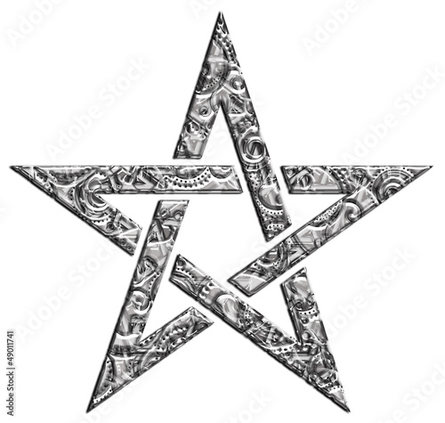 Doppelrollo mit Motiv - Pentagramm - Muster - Stern der Magier