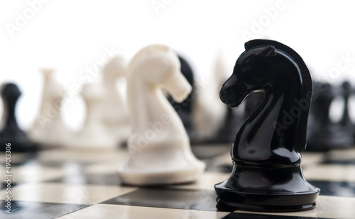 Photographie black and white knights