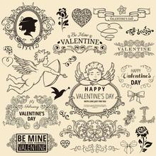 Set Of Valentine Design Elements