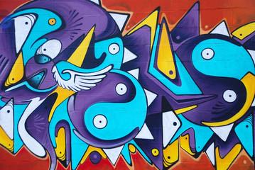 Panel Szklany Podświetlane Do pokoju chłopca GRAFFITI COLORIDO ARTÍSTICO, ABSTRACTO