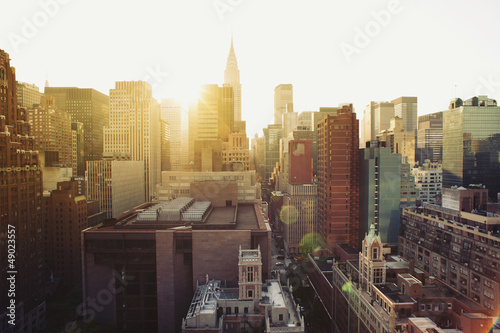 Papiers peints New York New York City Manhattan skyline view at sunshine.