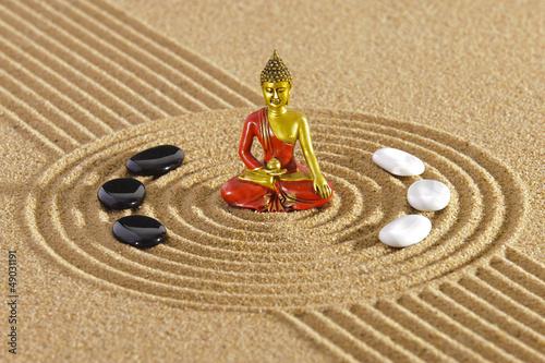 Akustikstoff - Zen Garten mit Buddha (von Wolfilser)