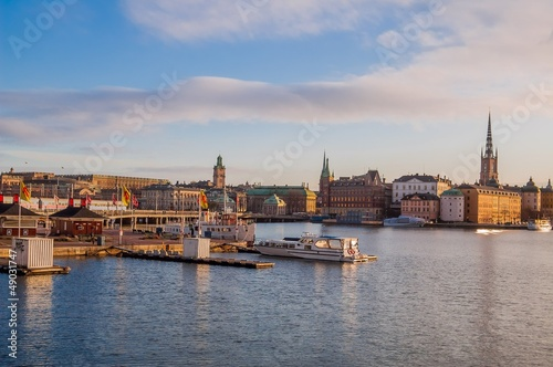 Photo  Stockholm Olt town and Harbour at Dawn