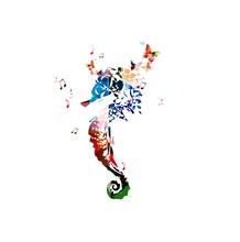 Colorful Vector Sea Horse Back...