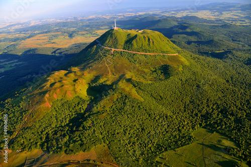 Puy de dome et parc des volcans d'Auvergne Canvas Print