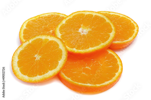 Aluminium Prints Slices of fruit orange slices
