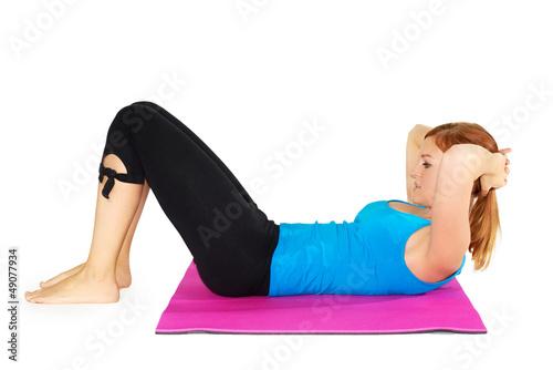 Tuinposter Gymnastiek Pilates (Kathy)