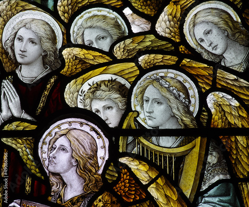 Fototapeta  Stained glass angels