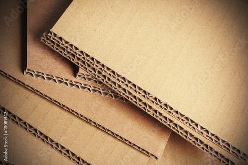 Fotografering  carton ondulé gros plan, matériaux d'emballage
