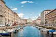 canvas print picture - Canal Grande in Trieste
