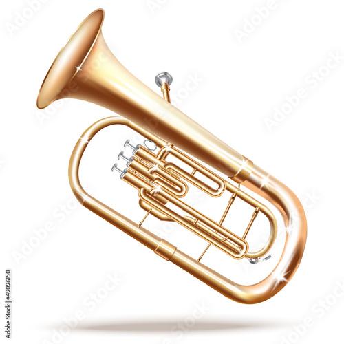 Photo Classical Baritone horn / Euphonium tuba - Vector illustration