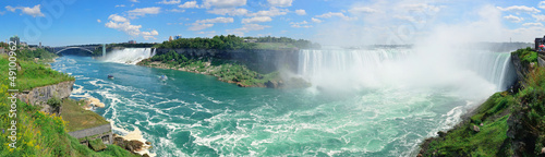 Photo sur Toile Canada Niagara Falls aerial view