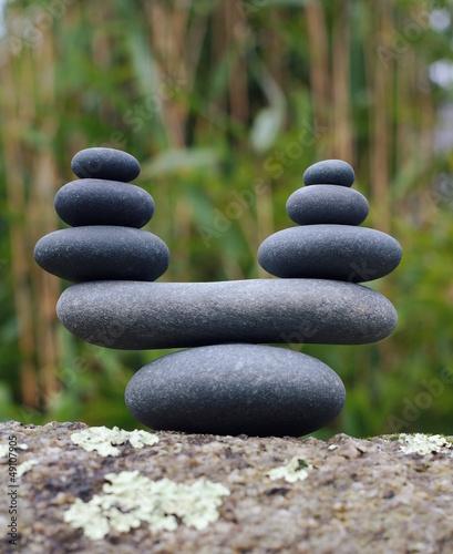 Plissee mit Motiv - Zen Waage