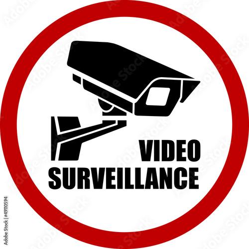 round video surveillance sign