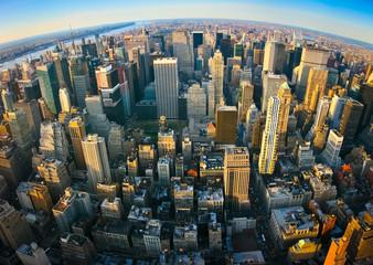 fototapeta panoramiczny widok na Nowy Jork