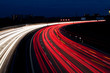 canvas print picture - Autos auf Autobahn bei Nacht