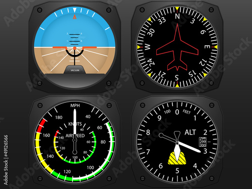 Airplane cockpit  instrument panel Wallpaper Mural