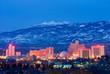 canvas print picture - Reno Nevada at night