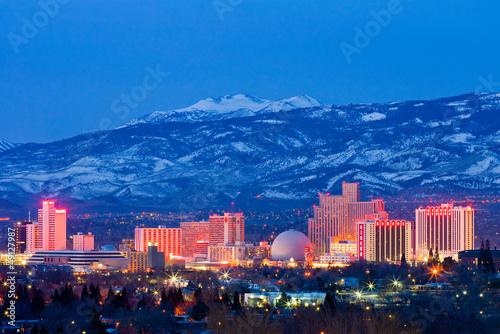 Obraz na plátně Reno Nevada v noci