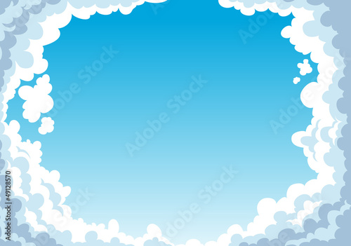 Poster Ciel Blue sky with clouds background vector