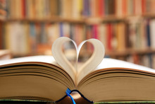Book Page In Heart Shape With ...