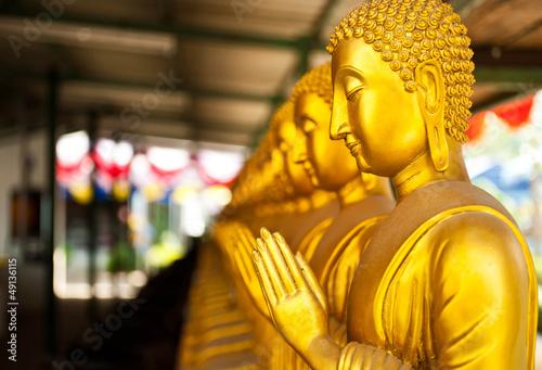 The golden Buddha statue ,thailand
