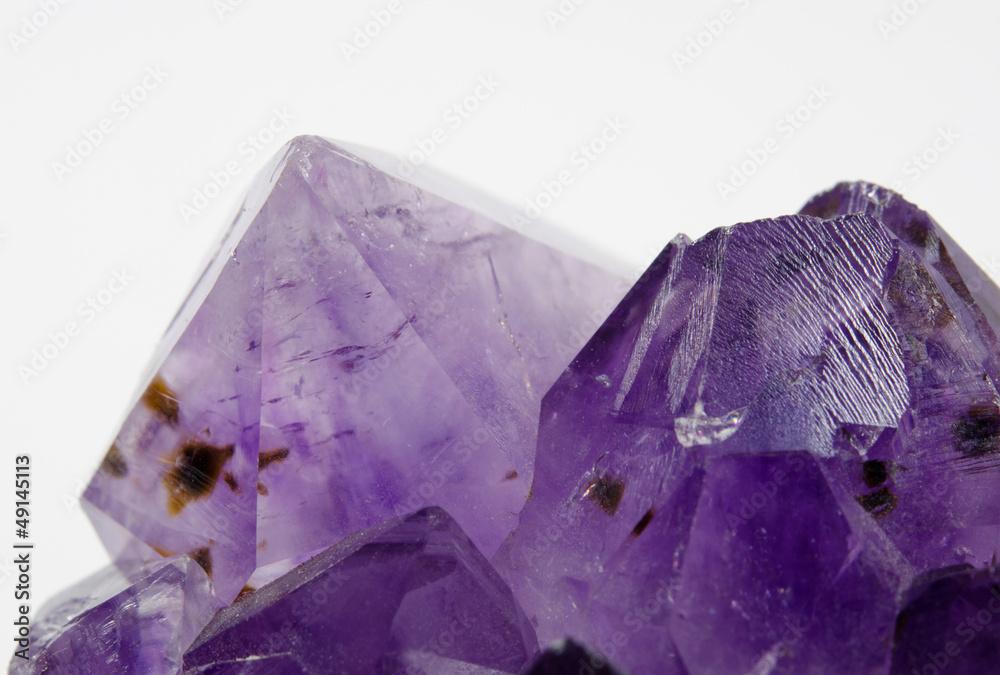 Plissee mit Motiv - Amethyst makro, Kristalle mit Einschlüssen