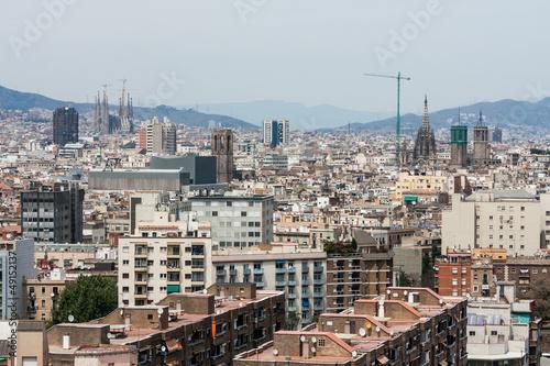 Keuken foto achterwand Seoel Aerial view of Barcelona, Spain