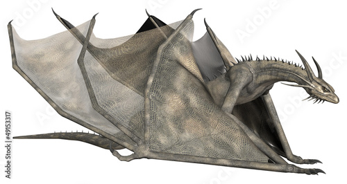Fotografie, Tablou  Fantasy Dragon - Computer Artwork