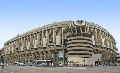 In de dag Madrid Santiago Bernabeu Stadium