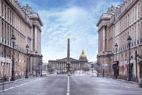 Obraz na plátne  Assemblée nationale et Place de la concorde